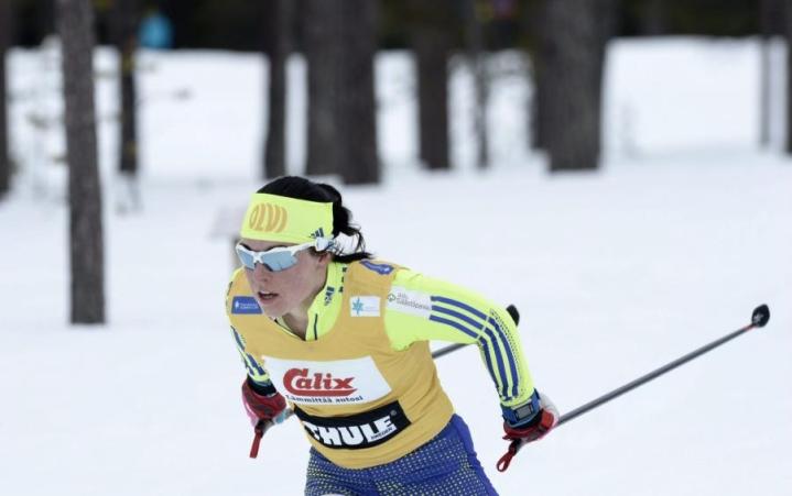 Pärmäkoski voitti perinteisen hiihtotavan kymmenen kilometrin kisan. LEHTIKUVA / Heikki Saukkomaa