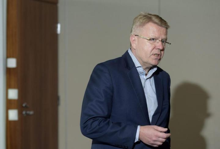 Jyri Häkämies piti kuuluisan puheensa Washingtonissa 2007. LEHTIKUVA / HEIKKI SAUKKOMAA