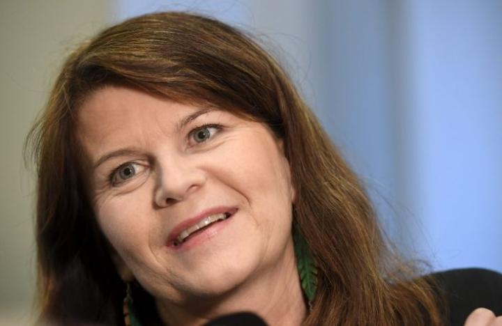 Outi Alanko-Kahiluoto on kolmannen kauden kansanedustaja. LEHTIKUVA / HEIKKI SAUKKOMAA
