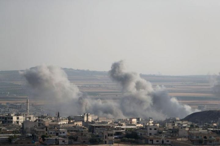 Syyrian Idlibiä on taas pommitettu viime päivinä. Lehtikuva/AFP