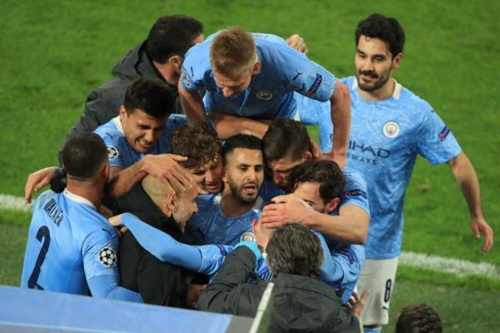 Keskiviikkona City voitti puolivälierien toisessa osassa Borussia Dortmundin vieraissa 2–1. LEHTIKUVA/AFP