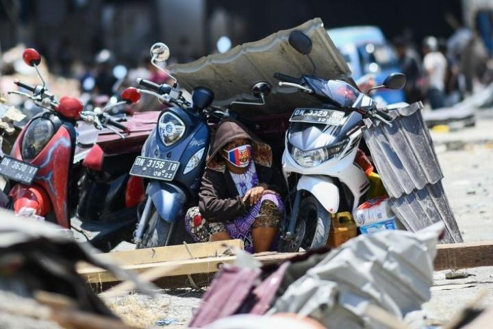 Palun ympäristössä saattaa vieläkin olla kyliä, jonne pelastustyöntekijät eivät ole lainkaan päässeet. LEHTIKUVA/AFP