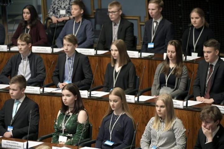 Perjantaiksi 27. maaliskuuta suunniteltu Nuorten parlamentin kokoontuminen perutaan. LEHTIKUVA / Vesa Moilanen