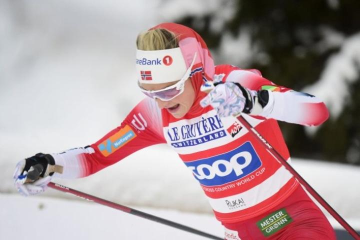 Johaug ei aio kilpailla Oberstdorfin MM-hiihtojen pariviestissä. Lehtikuva / Vesa Moilanen
