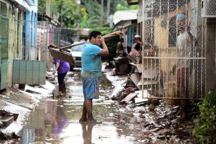 Hondurasissa rankkasateet ovat aiheuttaneet tulvia. LEHTIKUVA/AFP