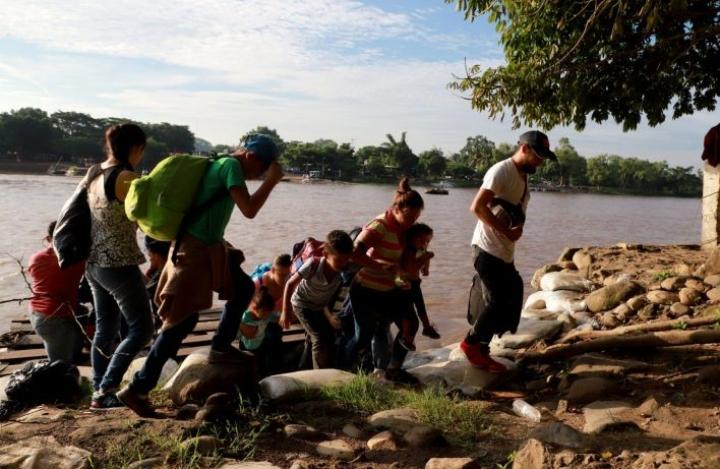 Yhdysvallat ja Meksiko tekivät aiemmin tässä kuussa sopimuksen, jonka myötä Meksikolla on 45 päivää aikaa laittaa siirtolaisuustilanne kuntoon. LEHTIKUVA/AFP
