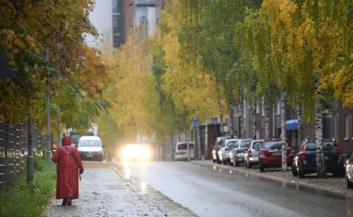 Sää on etelässäkin sateinen. Lehtikuva / Heikki Saukkomaa