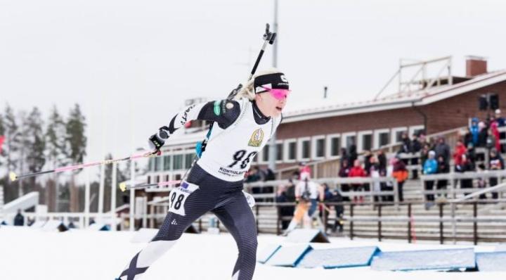 Kaisa Mäkäräinen oli ykkönen Kontiolahden kansainvälisten gp-kilpailujen pikamatkalla.