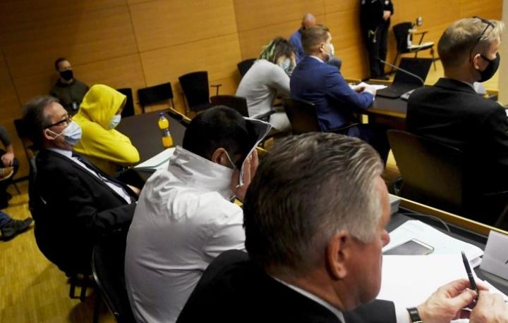 Syyttäjä vaatii kolmelle miehelle elinkautisia vankeusrangaistuksia murhasta. LEHTIKUVA / VESA MOILANEN
