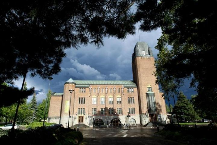 Joensuun kaupungintalo arkistokuvassa vuonna 2012.