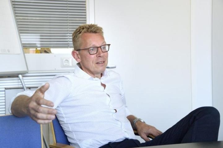 Urheiluliiton uusi toimitusjohtaja Harri Aalto on valmis kääntämään kaikki kivet liiton budjetin tasapainottamiseksi. LEHTIKUVA / MARKKU ULANDER
