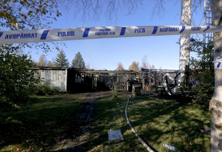 Palossa kuolivat 6- ja 10-vuotiaat lapset. Lehtikuva / Markku Ruottinen