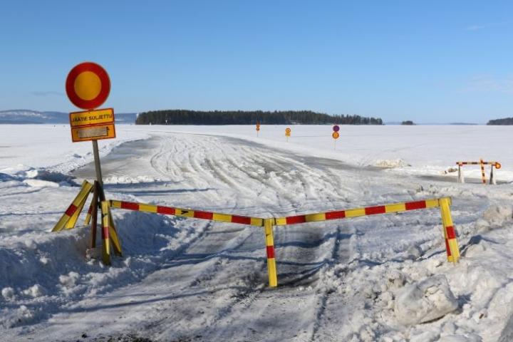 Kolin jäätie on suljettu tältä talvelta.