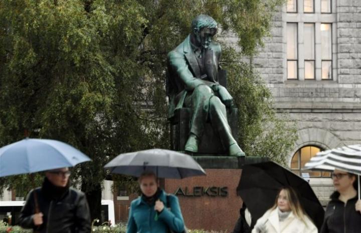 Kivi, oikealta nimeltään Alexis Stenvall, oli ensimmäinen suomalainen ammattikirjailija. Häntä kutsutaan suomalaisen kirjallisuuden isäksi. LEHTIKUVA / MARKKU ULANDER