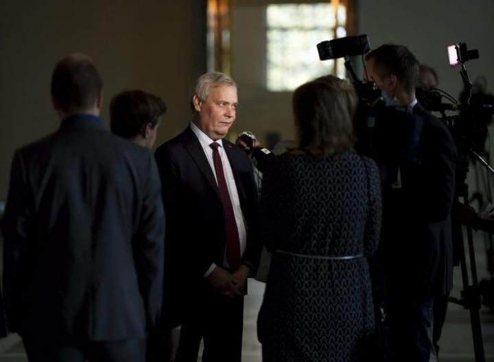 Pääministeri Antti Rinne uskoo, että keskustan puheenjohtajavalinta selkiyttää myös hallituksen tilannetta. LEHTIKUVA / Antti Aimo-Koivisto