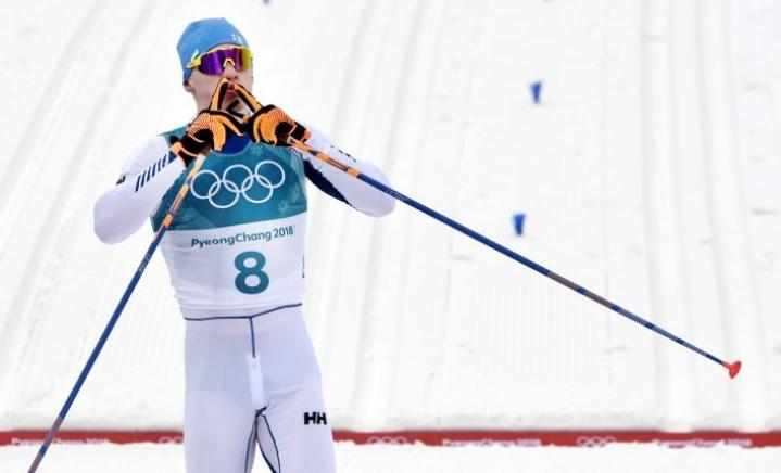 Arkistokuva vuoden 2018 olympialaisista, joissa Niskanen voitti 50 kilometrin perinteisen kilpailun.