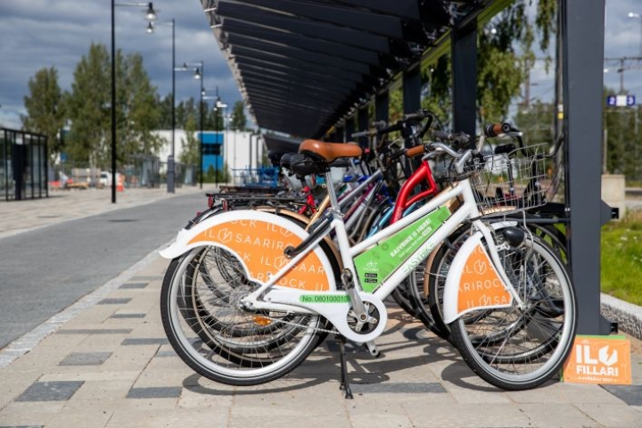 Joensuussa on ollut tänä vuonna kaikkiaan 60 lyhyeksi ajaksi omaan käyttöön otettavaa kaupunkipyörää.