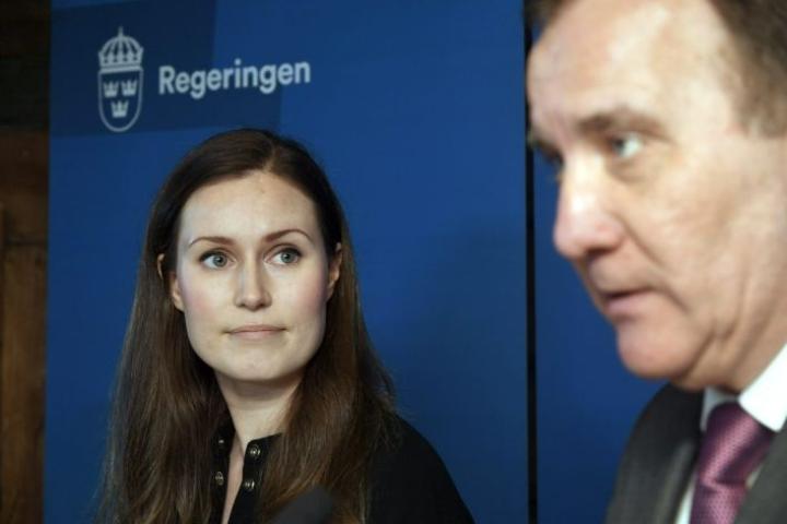 Suomen edustaminen uskottiin EU-huippukokouksen lopun ajaksi Ruotsin pääministeri Stefan Löfvenille. LEHTIKUVA / Markku Ulander