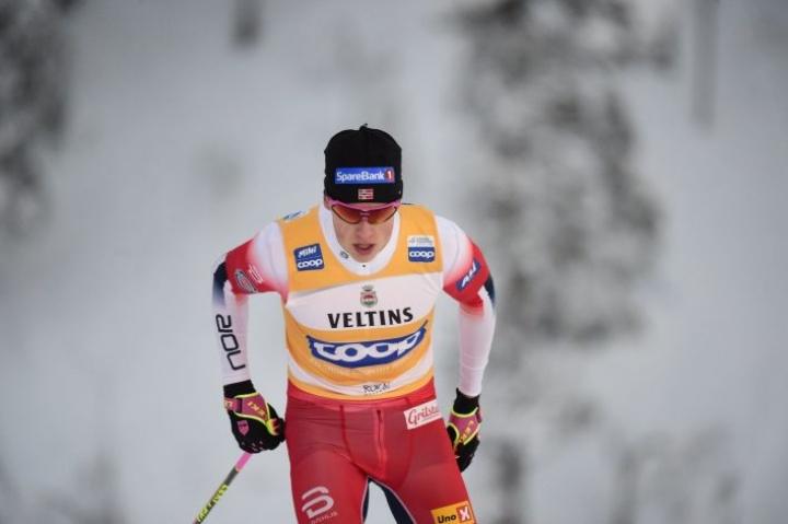 Johannes Hösflot Kläbo palasi pitkän harjoitusjakson jälkeen kisoihin maan mestaruuskisoissa Trondheimissa, ja hän haluaa nyt palautua kolmesta ankarasta kilpastartista. LEHTIKUVA / Vesa Moilanen