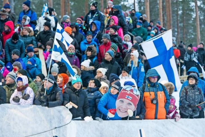 Ampumahiihdon maailmancup-tunnelmaa Kontiolahdelta maaliskuulta 2018.