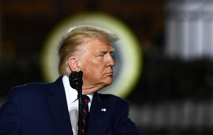 Trumpin on vierailullaan määrä tarkastella levottomuuksien aiheuttamia vahinkoja ja tavata lainvalvojia. LEHTIKUVA/AFP