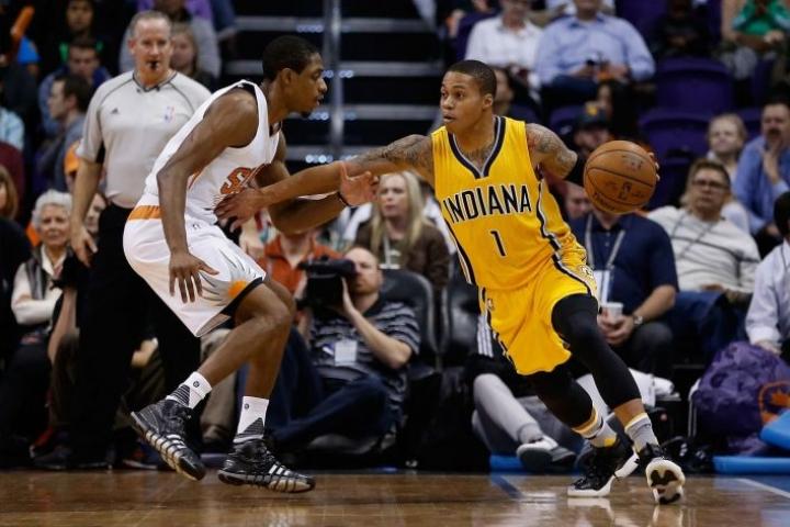 Muun muassa NBA:n kerrottu selvittävän mahdollisuuksia otteluiden pelaamiseen ilman katsojia. LEHTIKUVA / AFP / CHRISTIAN PETERSEN