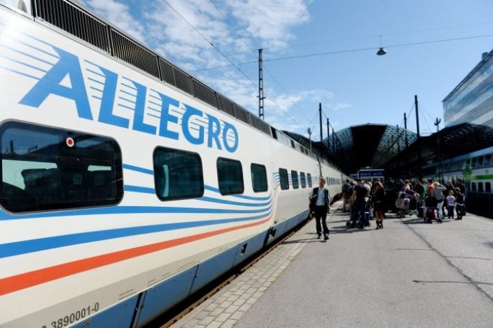 Toistaiseksi on epäselvää, käykö Venäjän kaavailema ilmainen e-viisumi Allegro-junissa. LEHTIKUVA / Mikko Stig