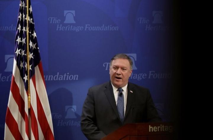 Ulkoministeri Pompeon mukaan Yhdysvallat yrittää selvittää mystistä ääni-ilmiötä. Lehtikuva/AFP