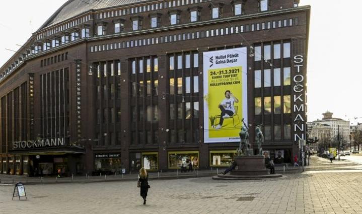 Stockmannin mukaan tavarataloja joudutaan mahdollisesti sulkemaan tiukentuneiden rajoitusten takia. LEHTIKUVA / MARKKU ULANDER