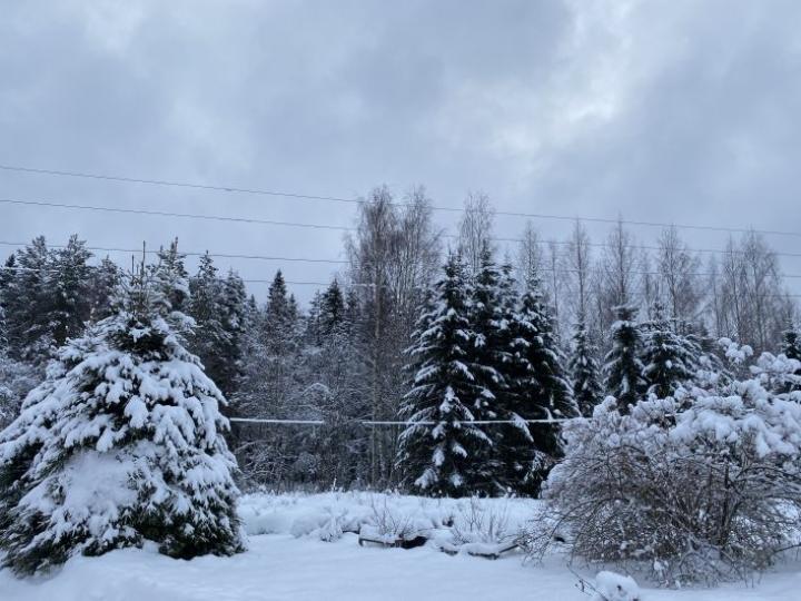 Tammikuussa päästiin nauttimaan lumi-idyllistä.