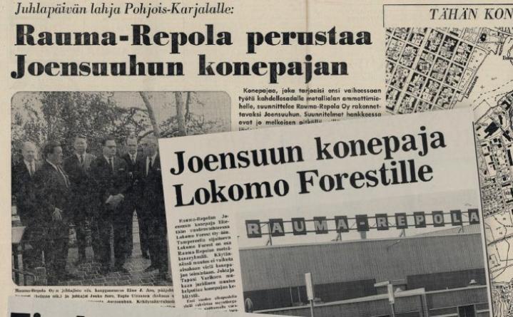 Karjalaisen uutisia 14.7.1971, 13.10. 1987.