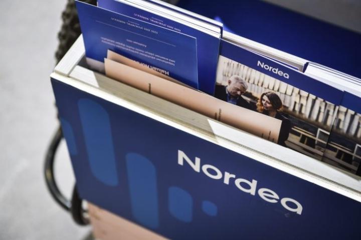 Alkuvuosi ei ollut Nordean tuloksen kannalta herkullinen: liikevoitto putosi yli 300 miljoonalla eurolla. LEHTIKUVA / EMMI KORHONEN