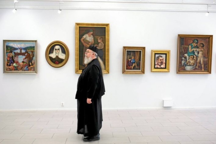 Valamon luostarin väki esitteli kesällä 2016 ylpeänä näyttävää Via Finlandia -näyttelyään.