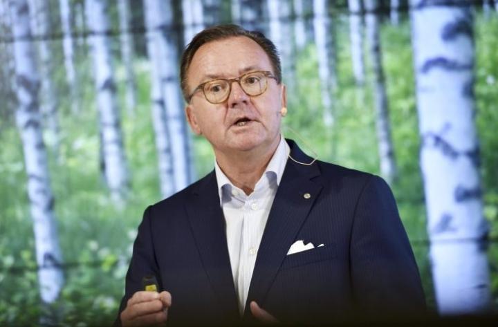 Stora Enson toimitusjohtaja Karl-Henrik Sundström jättää yhtiön ensi vuoden alkupuolella. LEHTIKUVA / EMMI KORHONEN