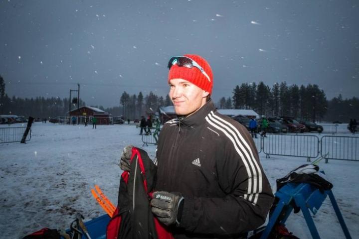 Timö Grönlund Kontiolahden ampumahiihtokeskuksessa viime marraskuussa.