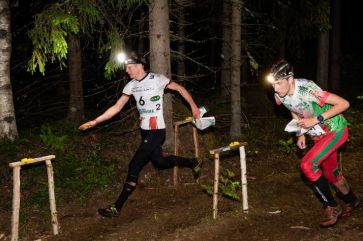 Hannu Airila juoksi Kalevan Rastin toisen osuuden.