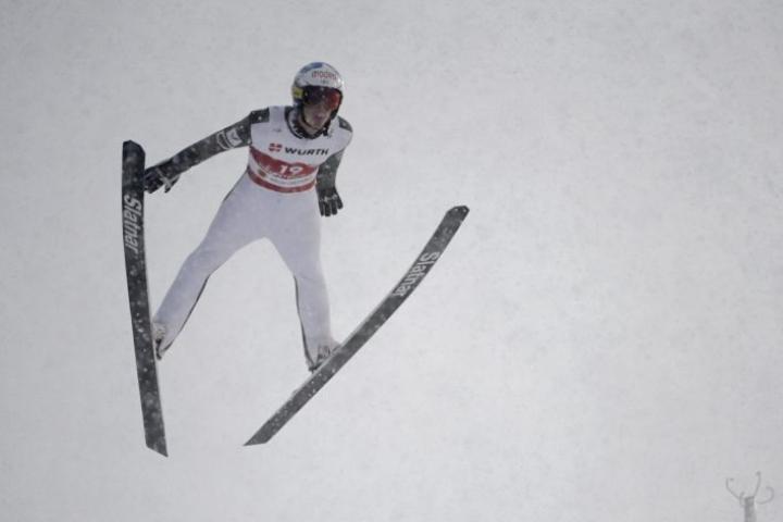 Niko Kytösaho oli normaalimäessä 26:s ja suurmäessä 30:s. LEHTIKUVA / Emmi Korhonen