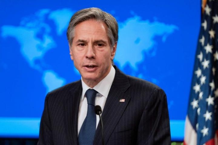 Blinken kehottaa Afrikan unionia ja kansainvälistä yhteisöä puuttumaan kriisiin. Lehtikuva/AFP