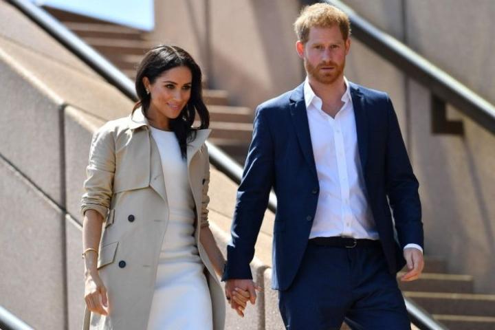 Yhdysvaltalaisen CBS-kanavan haastattelu herätti jo etukäteen laajaa kiinnostusta, sillä Harry ja Meghan elävät omaa elämäänsä irrallaan kuninkaallisesta perheestä. LEHTIKUVA / AFP