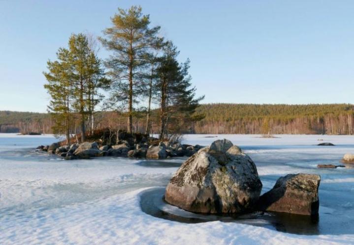 Myös Herajärvi Kontiolahdella valmistautuu luomaan jääpeitteensä.
