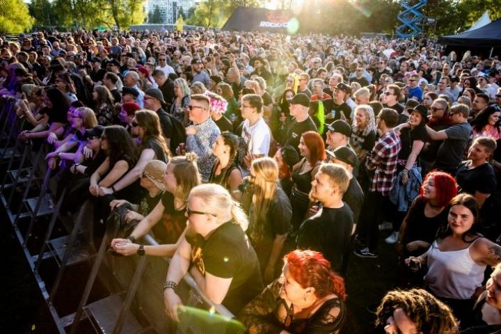 Tähän tapaan Rock in the City -tapahtumassa juhlittiin Joensuussa viime kesänä.
