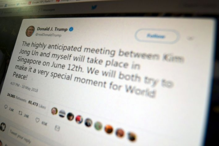 Yhdysvaltojen presidentin Twitter-tili on julkinen foorumi, josta ei voi sulkea pois ihmisiä heidän poliittisten mielipiteidensä perusteella, katsoo liittovaltion tuomari New Yorkissa.  LEHTIKUVA / AFP