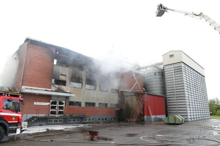 Liperin Mylly tuhoutui tulipalossa viime yönä.