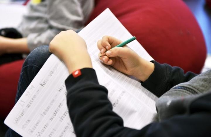 Kahdesta yhtä hyvin oppimistulosarvioinnissa menestyneestä opiskelijasta paremman tuloksen sai todennäköisesti se, jonka äidinkielen arvosana peruskoulusta oli parempi. LEHTIKUVA / EMMI KORHONEN