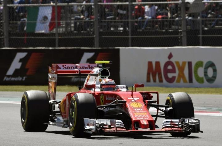 Kimi Räikkönen oli kuudes ja Valtteri Bottas kahdeksas. LEHTIKUVA/AFP