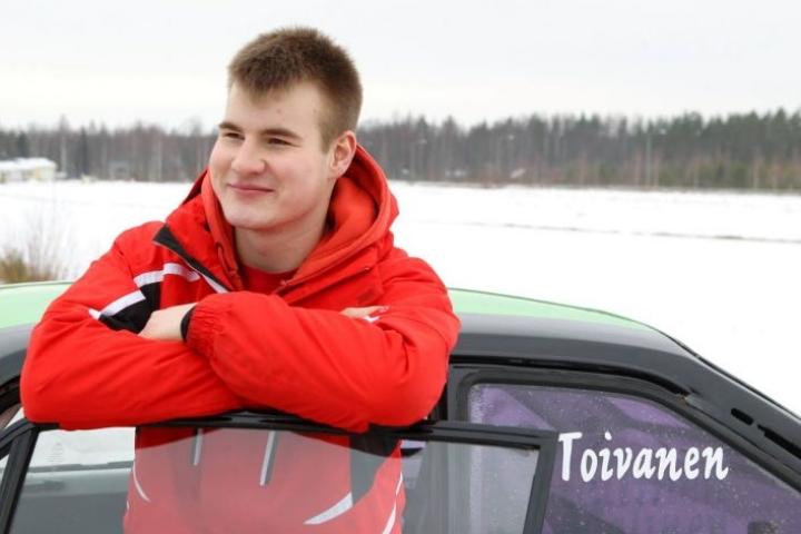 Joni Toivanen ajoi nopeimmaksi kaksivetoajajaksi Rautavaaralla. Toivanen arkistokuvassa.