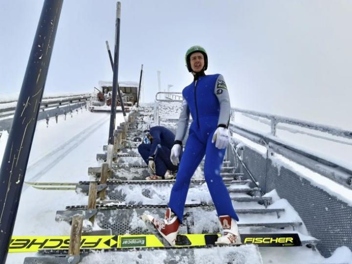 Ilkka Herola valmistautui MM-kisoihin hyvin kylmällä leirillä Puijolla.
