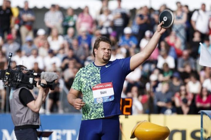 Viime kesänä Daniel Ståhl nähtiin Paavo Nurmi -kisoissa Turussa. LEHTIKUVA / RONI REKOMAA