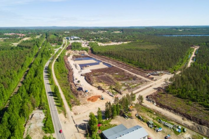 Kontiolahden ja Joensuun rajalle on nousemassa uusi asuin- ja työpaikka-alue. Alueen omistaa Master Yhtiöt. Arkistokuva toukokuulta 2018.