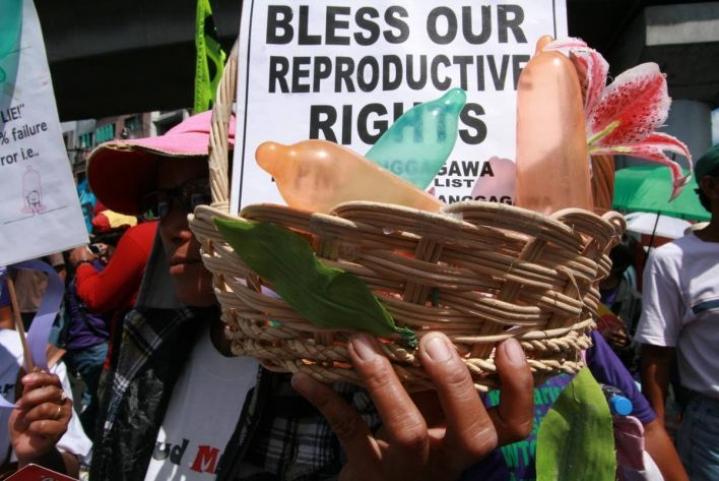 Manilassa Filippiineillä kampanjoitiin perhesuunnittelun puolesta.